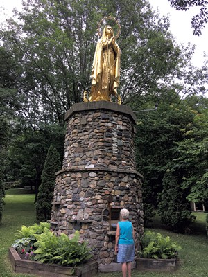 Our Lady of Lourdes at St. Anne's Shrine - PAULA ROUTLY ©️ SEVEN DAYS