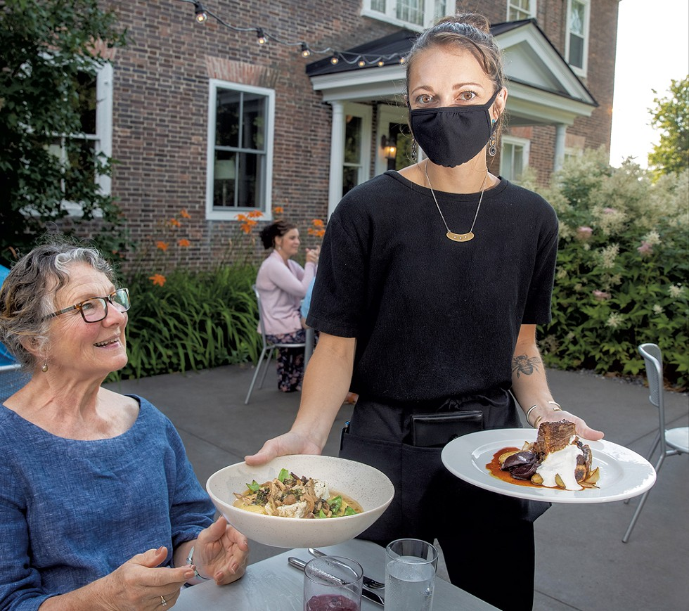 Outdoor dining at Kitchen Table Bistro - JAMES BUCK