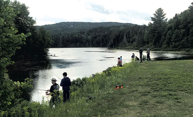 Anglers at Baker Pond in Brookfield - COURTESY OF THE VERMONT FISH & WILDLIFE DEPARTMENT