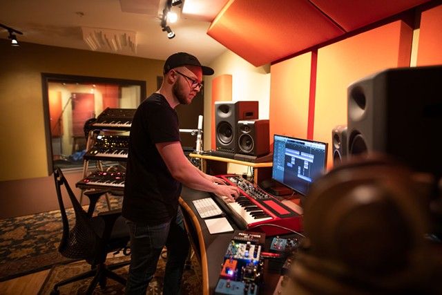 Christopher Hawthorn at his studio in Burlington - COURTESY OF LUKE AWTRY PHOTOGRAPHY