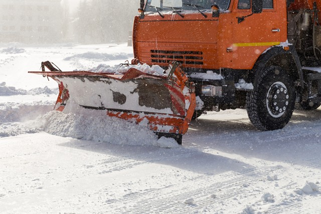 Snowplow in winter - DREAMSTIME
