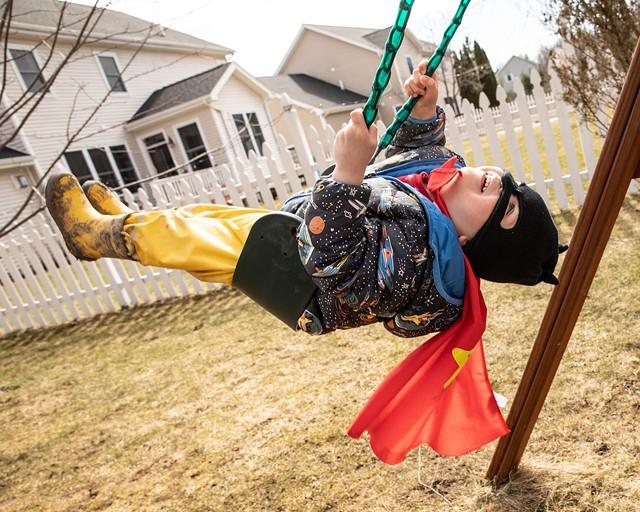"""""""The Backyard Superhero"""" by Cat Cutillo - COURTESY OF BCA CENTER"""