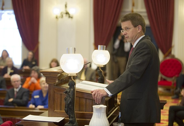 House Speaker Shap Smith (D-Morristown) begins his final session Tuesday at the Statehouse. - JEB WALLACE-BRODEUR