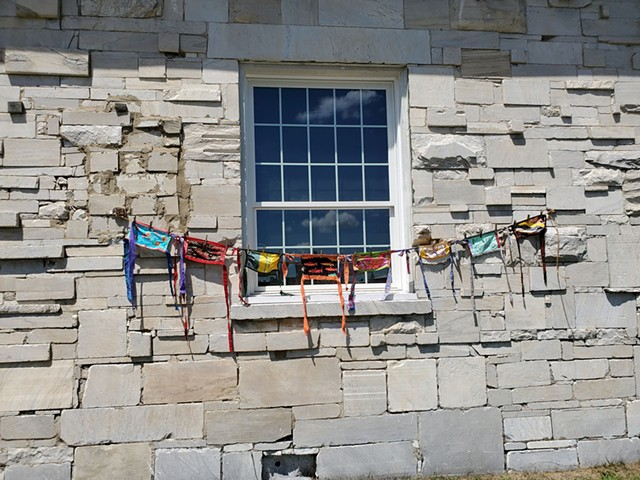 """Masks on the Line"" at the Marble Works District in Middlebury - COURTESY OF BETHANY BARRY"