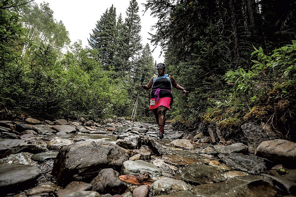 Valerio during the 2018 TransRockies stage race - COURTESY OF SPORTOGRAF