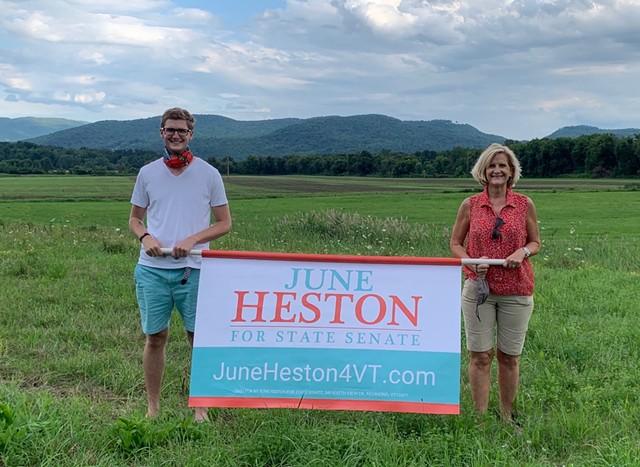 June Heston with her son, Keegan - COURTESY OF JUNE HESTON