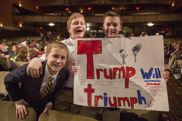 Young Trump fans - JAMES BUCK