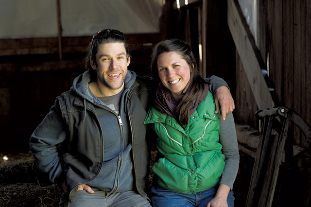 Zack Munzer and Kate Turcotte of Orb Weaver Farm - FILE: CALEB KENNA