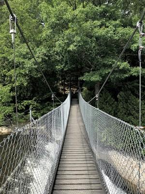 The Arnold Bridge over Otter Creek on the Trail Around Middlebury - SALLY POLLAK ©️ SEVEN DAYS