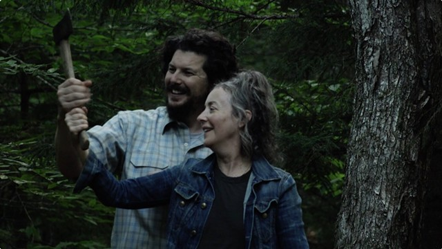 Kent Osborne and Jane Adams in the Vermont-shot film Build the Wall - COURTESY OF NOBUDGE
