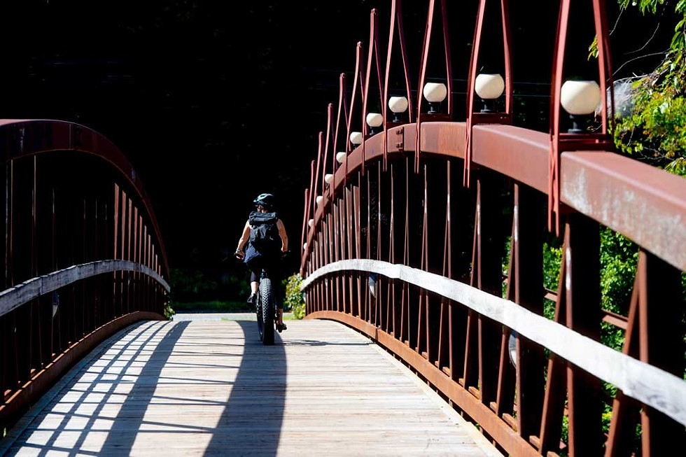 Cycling the Montpelier Bike Path - JEB WALLACE-BRODEUR