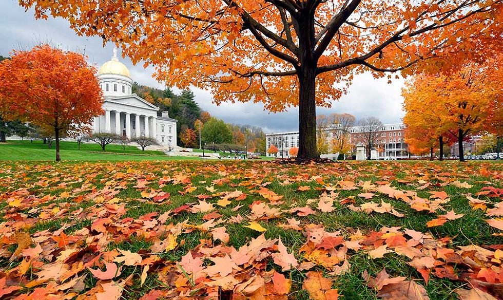 The Statehouse during peak foliage - JEB WALLACE-BRODEUR