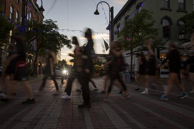 Protesters in Burlington - FILE: JAMES BUCK