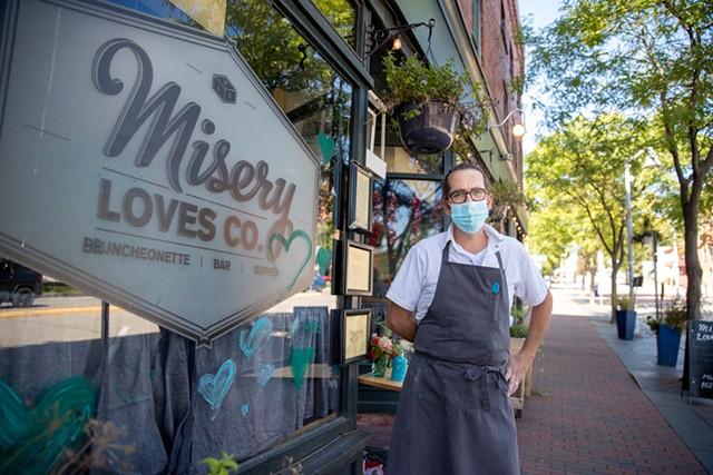 Aaron Josinsky in front of Misery Loves Co. - JAMES BUCK