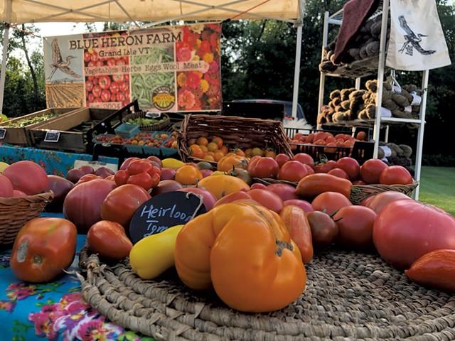 Heirloom tomatoes from Blue Heron Farm - JORDAN BARRY ©️ SEVEN DAYS
