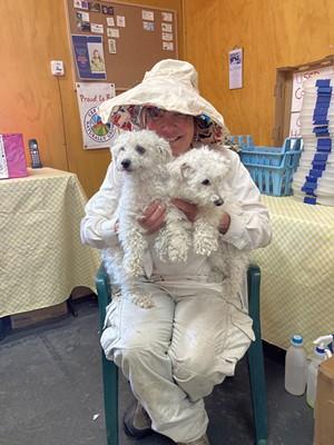 Sue Haynie with Ella and Lollipop at Sweet Seasons Farm - MARGARET GRAYSON ©️ SEVEN DAYS
