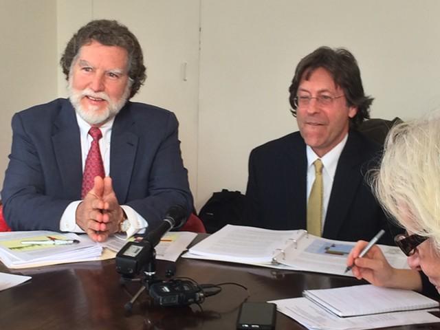 Economists Tom Kavet (left) and Jeff Carr - NANCY REMSEN