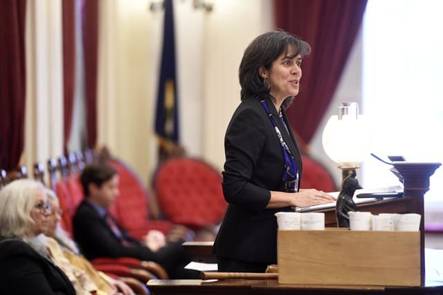 House Speaker Mitzi Johnson (D-South Hero) - FILE: JEB WALLACE-BRODEUR