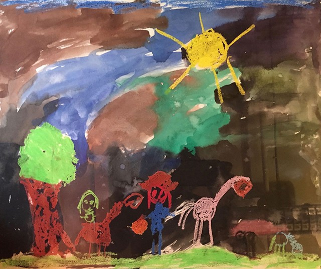 Artwork by Hannah Garrett, daughter of Lisa Myers, at age 5