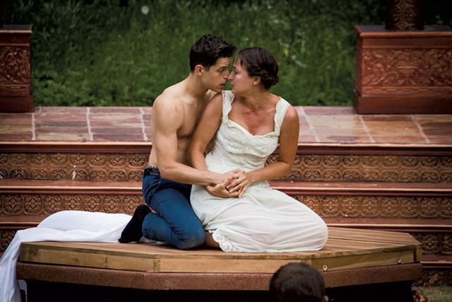 Nick Piacente and Lauren Pisano in Romeo and Juliet last summer - COURTESY OF JAN NAGLE