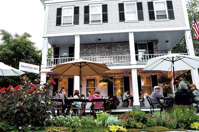Outdoor dining at the Grafton Inn - COURTESY OF THE GRAFTON INN