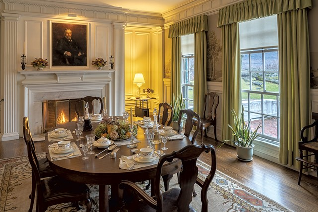The dining room set for Thanksgiving - COURTESY OF HILDENE, THE LINCOLN FAMILY HOME