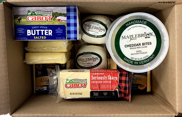 Dairy products in a Farmers to Families Food Box sourced by the Abbey Group - COURTESY THE ABBEY GROUP