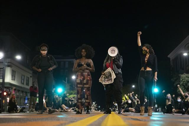 Black femme protest leaders - JAMES BUCK ©️ SEVEN DAYS