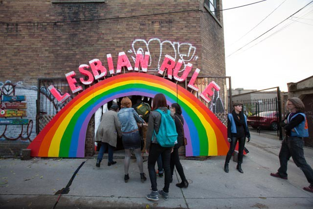 "Entrance to ""Killjoy's Kastle,"" Toronto - COURTESY OF ALLYSON MITCHELL"