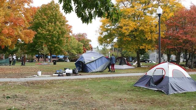 Volunteers clean up Battery Park - COURTNEY LAMDIN ©️ SEVEN DAYS