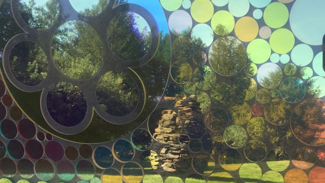 """""""Cairn"""" by Thea Alvin seen through  Chris Jeffrey's """"In a New Light"""" - COURTESY OF ALLYSON EVANS"""