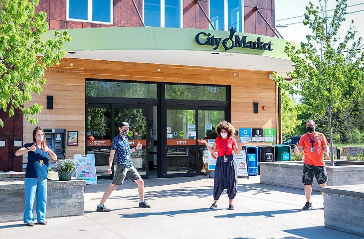 City Market workers masked up for safety - COURTESY PHOTO