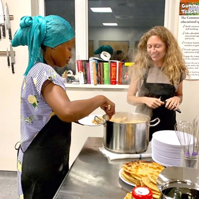 Anna Mays at a Mosaic of Flavor cooking class at the Community Teaching Kitchen - COURTESY IMAGE