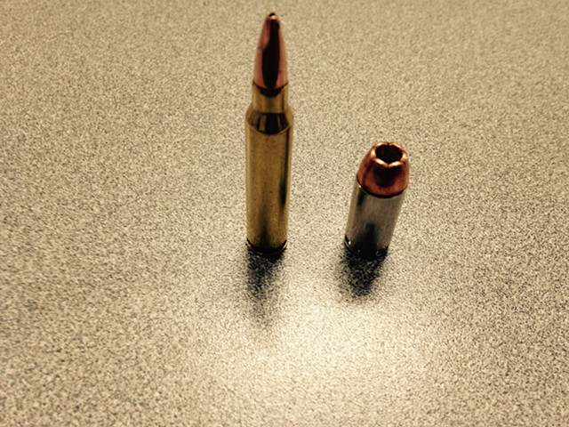 Bullets at the Burlington Police Commission meeting - MOLLY WALSH/SEVEN DAYS