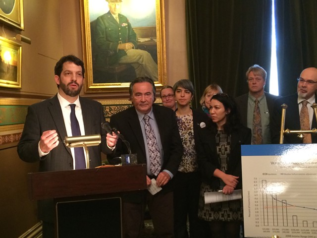Rep. Chris Pearson (P-Burlington) and other lawmakers offering a property tax relief measure - NANCY REMSEN