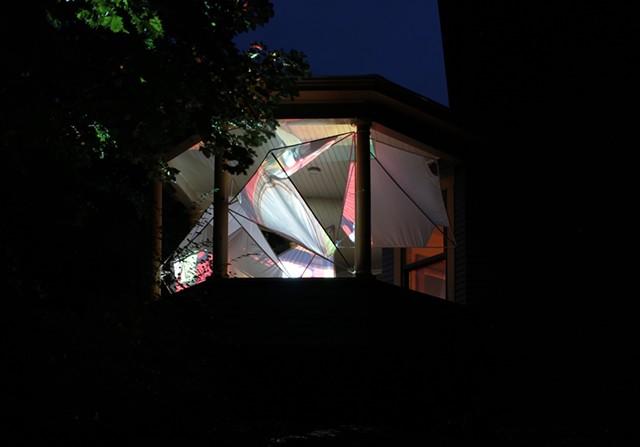 """Interspace"" seen at night - ALISA DWORSKY-DANNY SAGAN"