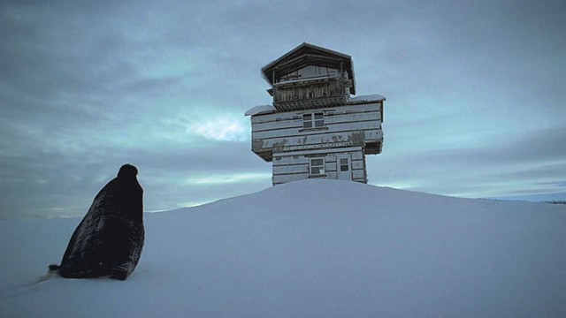 SNOWED IN Keough finds no refuge from the demons of her past in Fiala and Franz's arty fright film. - COURTESY OF NEON