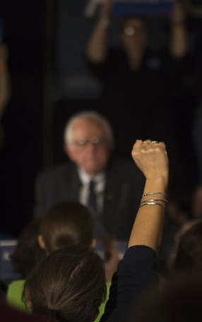 Sen. Bernie Sanders Friday in Davenport - MATTHEW TERRY