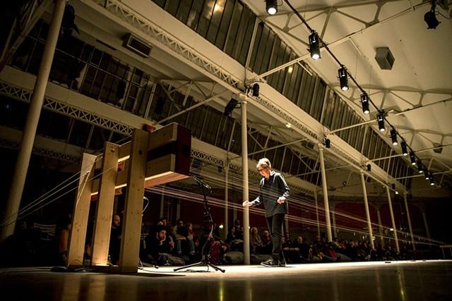 Ellen Fullman and her Long String Instrument - COURTESY OF NICOLAS JOUBARD