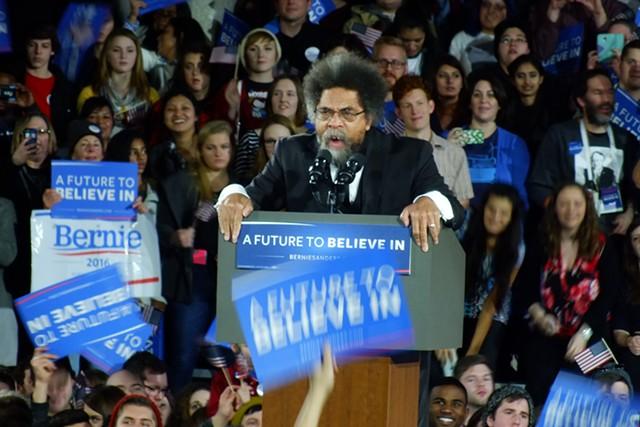 Cornel West Saturday night at the University of Iowa - ADAM BURKE