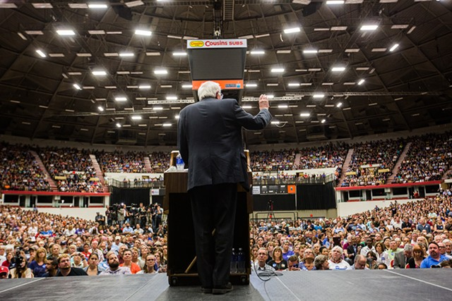 Sen. Bernie Sanders in Madison, Wis., in 2015 - FILE: ERIC TADSEN