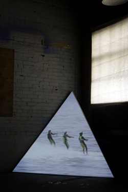 """Installation still from """"Triangle, Circle, Square"""" - ABBEY MEAKER"""