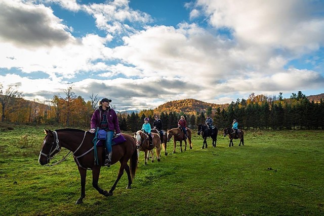 Horseback rides through the seasons with Lajoie Stables - BRIAN DEWYEA