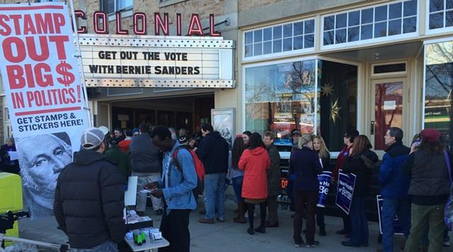 Lining up to see Sen. Bernie Sanders (I-Vt.) in Keene, N.H. - MARK DAVIS