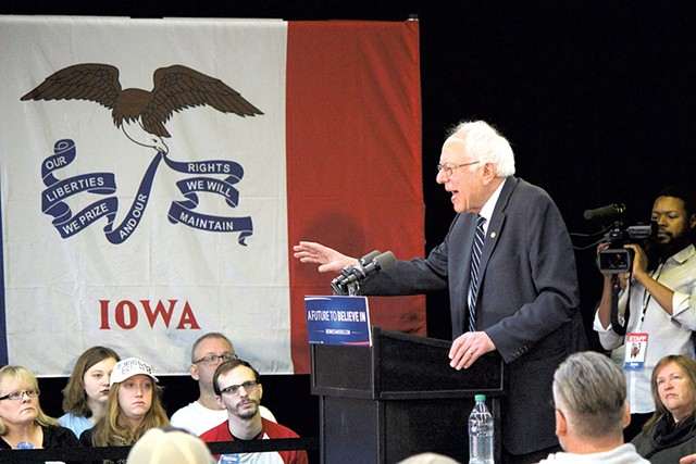 Sen. Bernie Sanders Saturday in Manchester, Iowa - PAUL HEINTZ