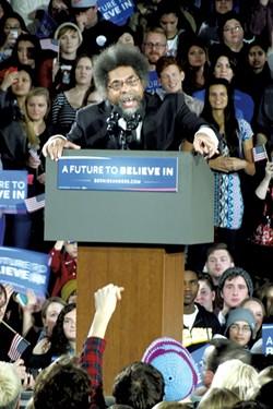 Cornel West Saturday in Iowa City - ADAM BURKE