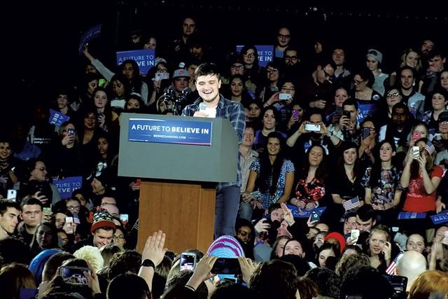 Actor Josh Hutcherson Saturday in Iowa City - ADAM BURKE