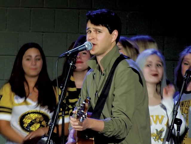 Vampire Weekend front man Ezra Koenig in Iowa City - ADAM BURKE