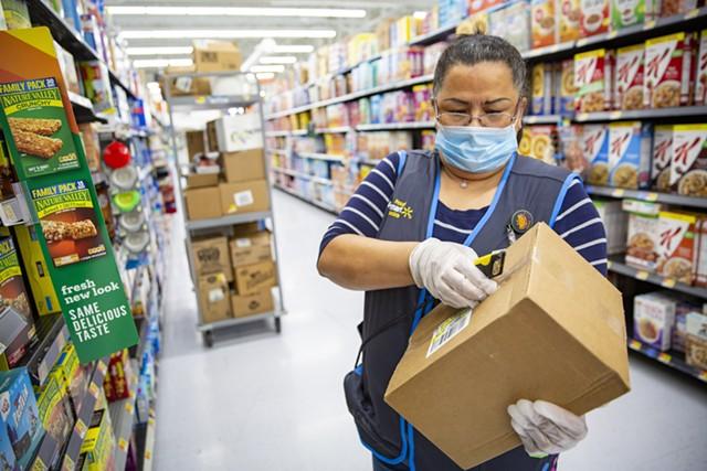 A Walmart worker - COURTESY OF WALMART