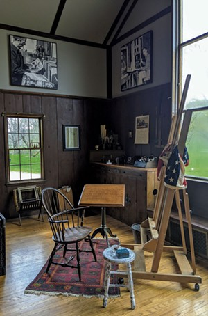 The restored artist studio - COURTESY OF ROCKWELL'S RETREAT